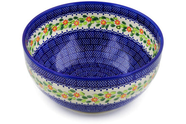 12 cup Serving Bowl - D150 | Polish Pottery House