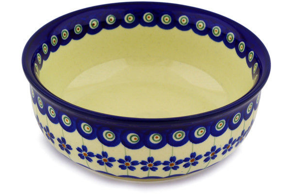 23 oz Cereal Bowl - Floral Peacock | Polish Pottery House