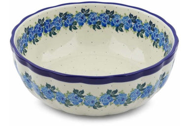 15 cup Serving Bowl - Bendikas Floral | Polish Pottery House