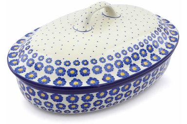 11 cup Covered Baker - P8824A | Polish Pottery House