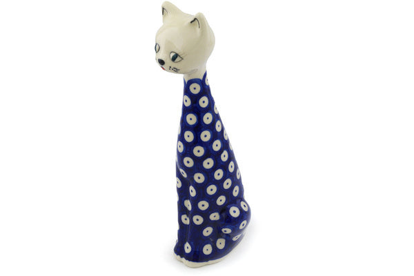 "10"" Cat Figurine - Polka Dot 