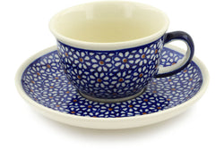 5 oz Cup with Saucer - 120 | Polish Pottery House