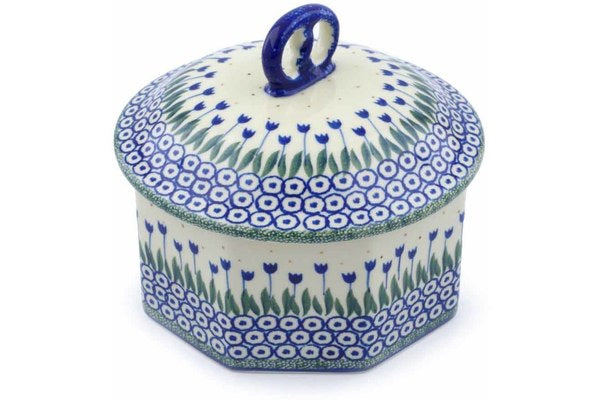 6 cup Octagon Box - 490A | Polish Pottery House