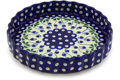 "9"" Fluted Pie Plate - Blue Bell 
