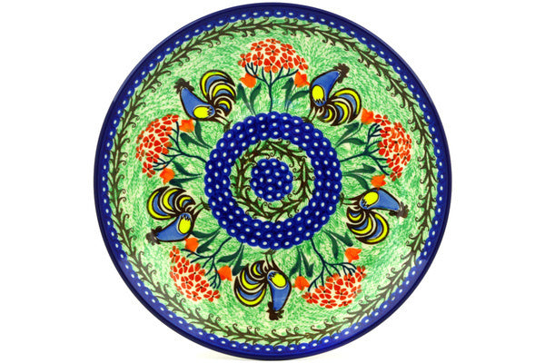 "11"" Dinner Plate - Blue Rooster 