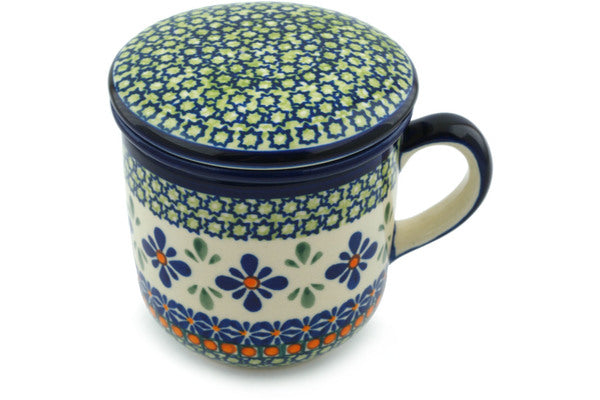12 oz Brewing Mug - Emerald Mosaic | Polish Pottery House