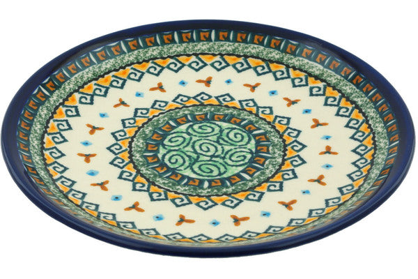 "8"" Salad Plate - Jade Swirl 