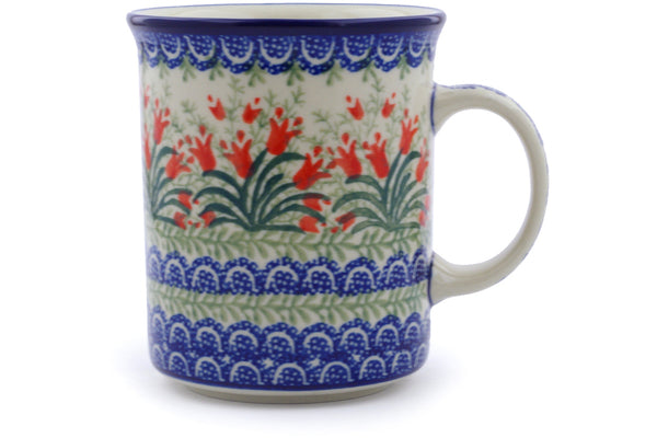 20 oz Mug - Crimson Bells | Polish Pottery House