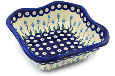 5 cup Square Bowl - D107 | Polish Pottery House