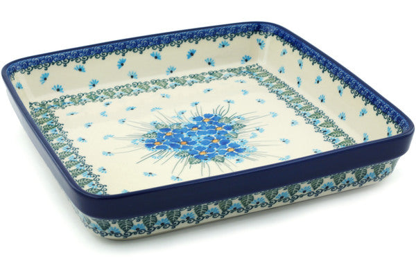 "10"" x 10"" Rectangular Baker - Empire Blue 