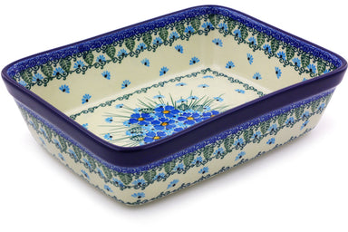 "8"" x 10"" Rectangular Baker - Empire Blue 