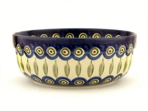 4 cup Serving Bowl - Blue Peacock | Polish Pottery House