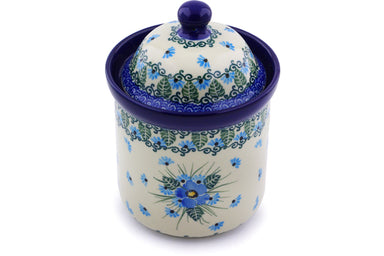20 oz Canister - Empire Blue | Polish Pottery House