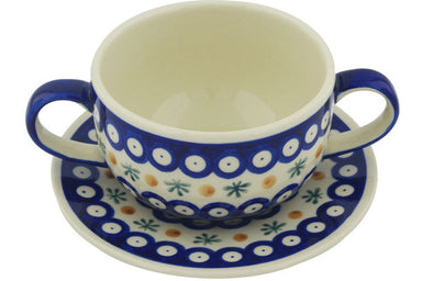 19 oz Soup Cup with Saucer - Old Poland | Polish Pottery House