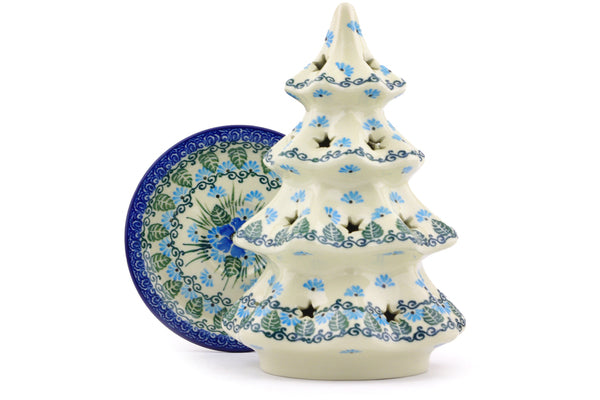 "8"" Christmas Tree Candle Holder - Empire Blue 