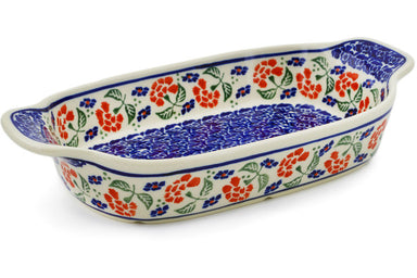 "5"" x 10"" Rectangular Baker with Handles - P6180A 