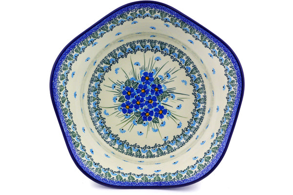 14 cup Serving Bowl - Empire Blue | Polish Pottery House