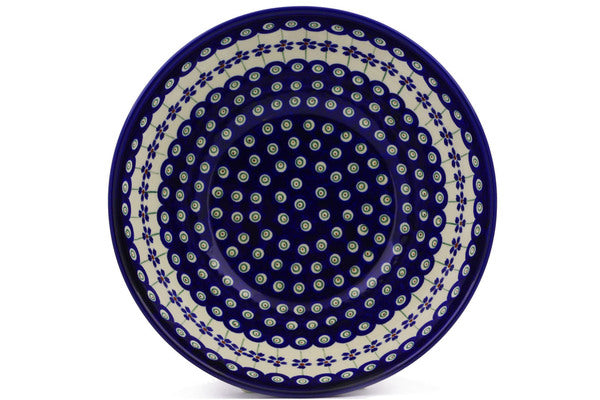 8 cup Serving Bowl - Floral Peacock | Polish Pottery House