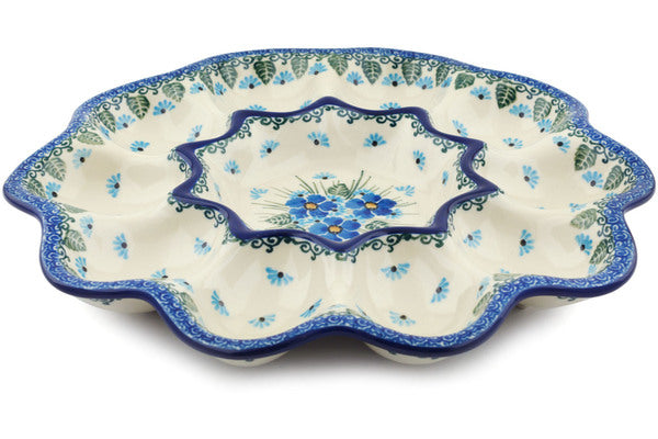 "11"" Egg Plate - Empire Blue 