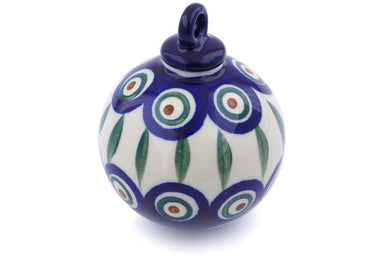 "4"" Ornament Christmas Ball - Peacock 