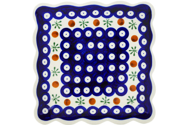 "7"" Scalloped Platter - Old Poland 