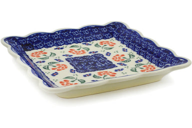 "7"" Scalloped Platter - P6180A 