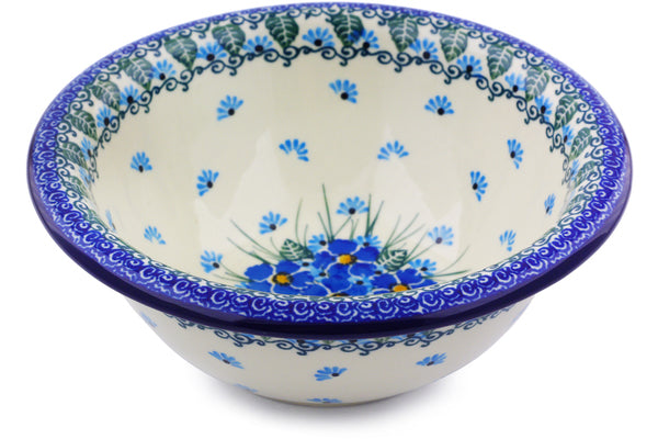 3 cup Serving Bowl - Empire Blue | Polish Pottery House