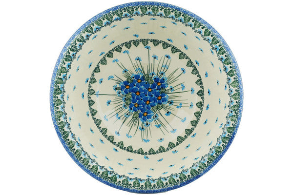 13 cup Serving Bowl - Empire Blue | Polish Pottery House