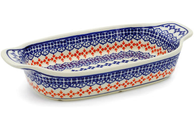 "5"" x 10"" Rectangular Baker with Handles - P9127A 