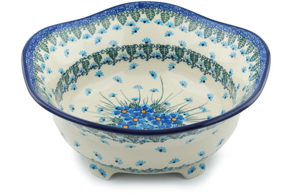 8 cup Scalloped Bowl - Empire Blue | Polish Pottery House