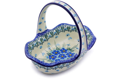 "7"" Basket with Handle - Empire Blue 