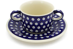 12 oz Soup Cup with Saucer - 42 | Polish Pottery House
