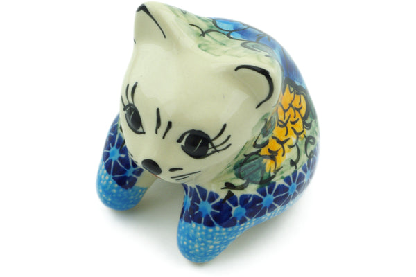 "3"" Shelf Sitting Cat Figurine - P4795A 