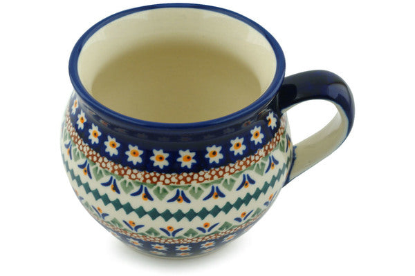 12 oz Bubble Mug - Lotus | Polish Pottery House