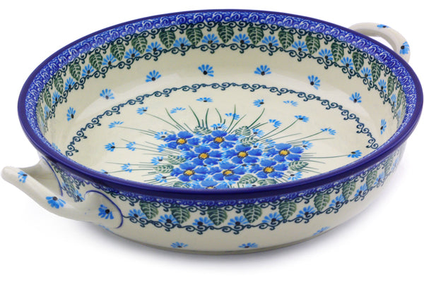 "9"" Round Baker with Handles - Empire Blue 