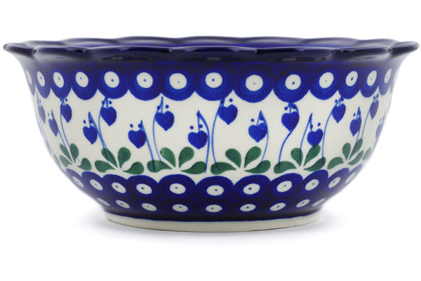 "8"" Scalloped Bowl - Blue Bell 