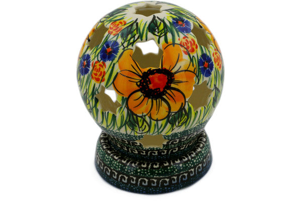 "5"" Globe Shaped Candle Holder - P6058A 