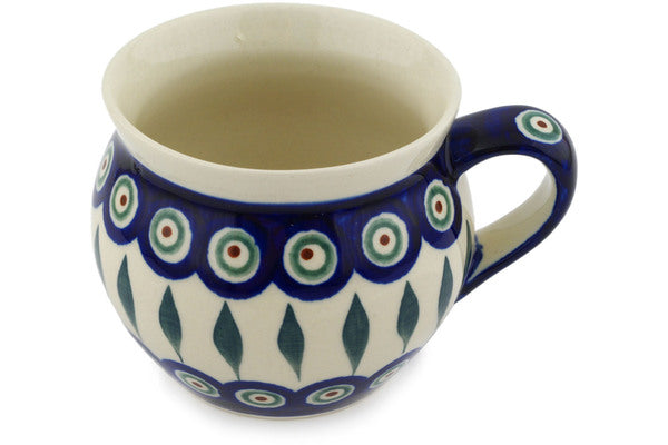 12 oz Bubble Mug - Peacock | Polish Pottery House