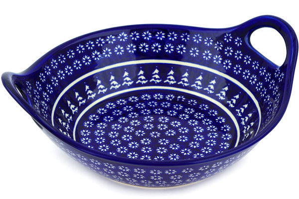 13 cup Serving Bowl with Handles - Winter Frost | Polish Pottery House
