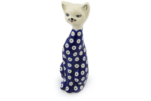 "8"" Cat Figurine - Polka Dot 