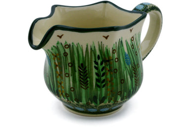11 oz Creamer - Emerald Pond | Polish Pottery House