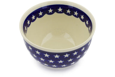5 cup Serving Bowl - Stars | Polish Pottery House