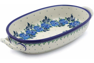"9"" Oval Baker with Handles - Bendikas Floral 