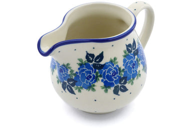8 oz Creamer - Bendikas Floral | Polish Pottery House