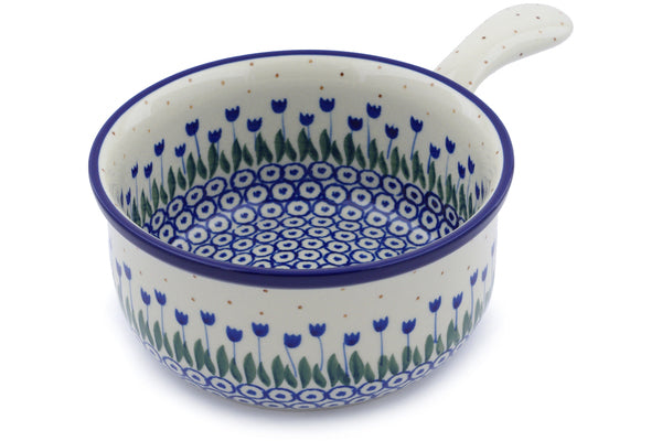 "6"" Round Baker with Handles - 490AX 