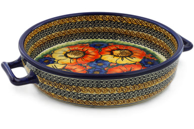 "9"" Round Baker with Handles - Autumn Wonder 