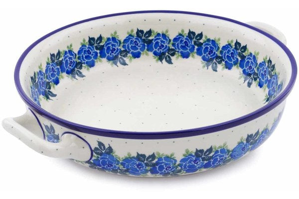 "10"" Round Baker with Handles - Bendikas Floral 