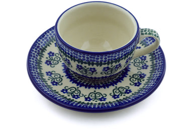 4 oz Cup with Saucer - 436X | Polish Pottery House
