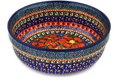 21 oz Cereal Bowl - Poppies | Polish Pottery House