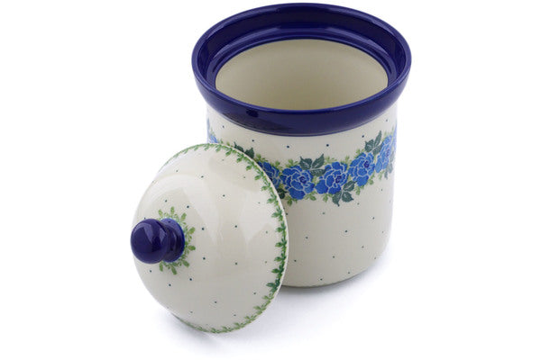 5 cup Canister - Bendikas Floral | Polish Pottery House